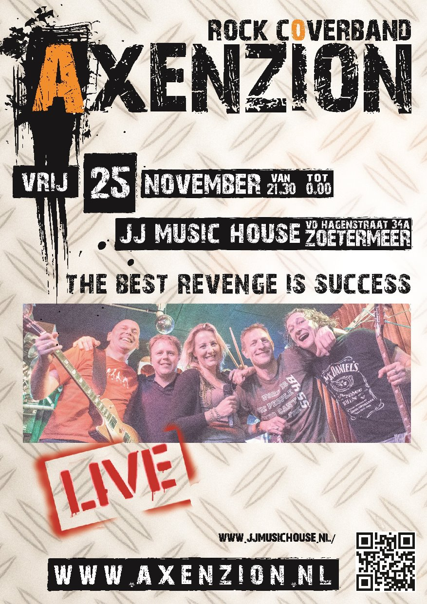 Rockband Coverband Axenzion Poster @ Vinnie - 2016